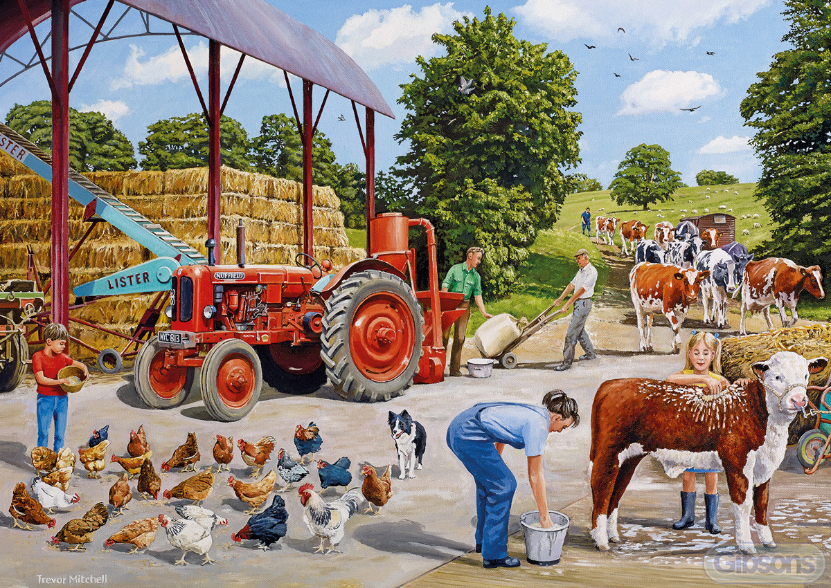 A Busy Farmyard Farm Jigsaw Puzzle