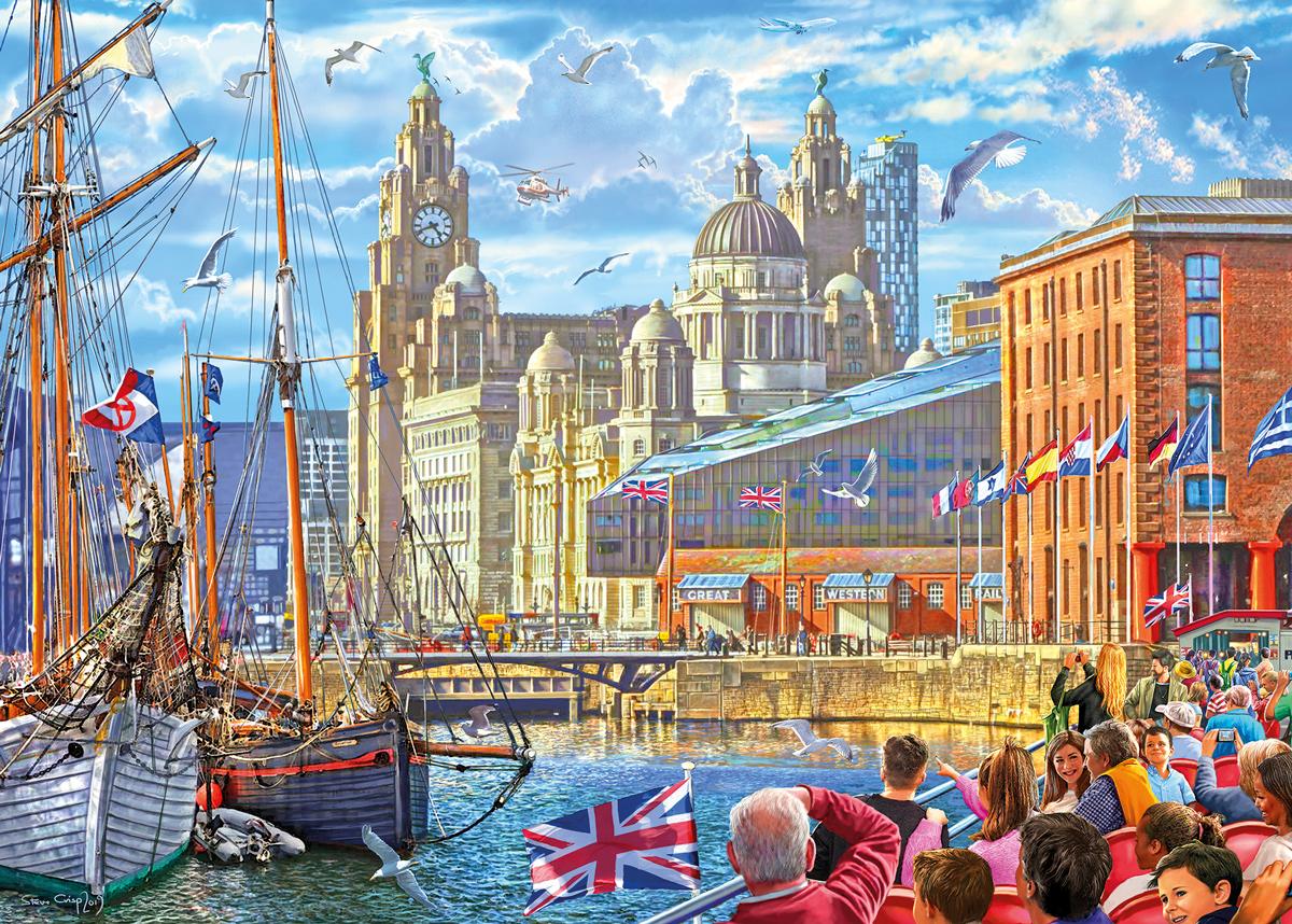 Albert Dock, Liverpool Boats Jigsaw Puzzle