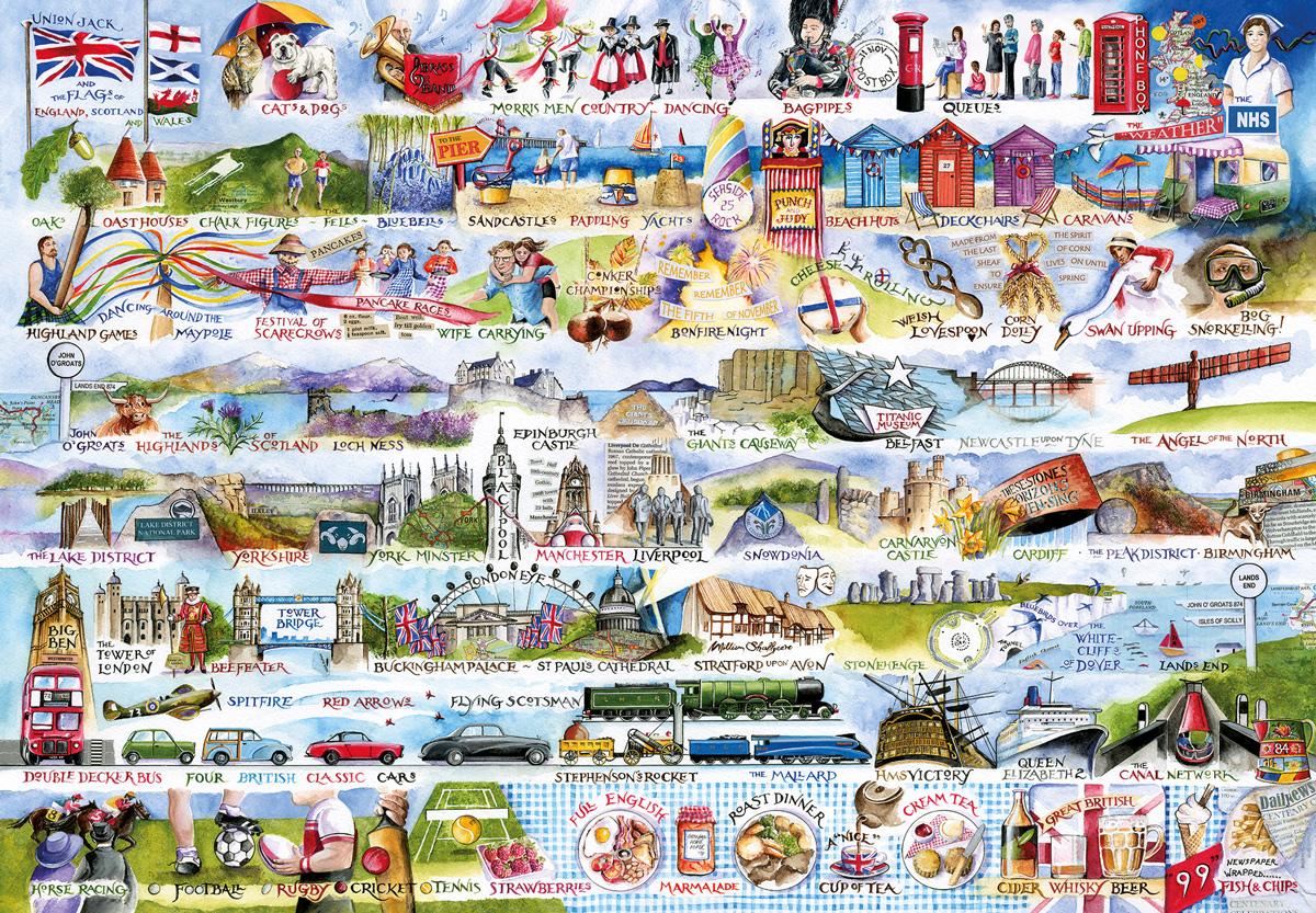 Cream Teas & Queuing United Kingdom Jigsaw Puzzle