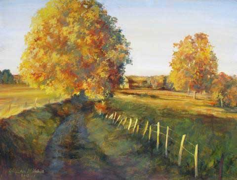 Autumn Lane Fall Jigsaw Puzzle