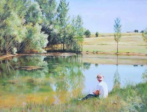 Paddy by the Lake - Scratch and Dent Lakes / Rivers / Streams Jigsaw Puzzle