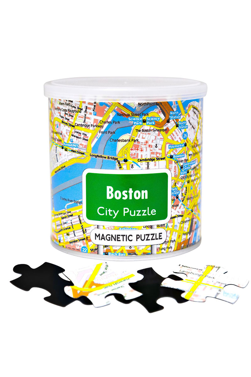 City Magnetic Puzzle Boston Cities Jigsaw Puzzle