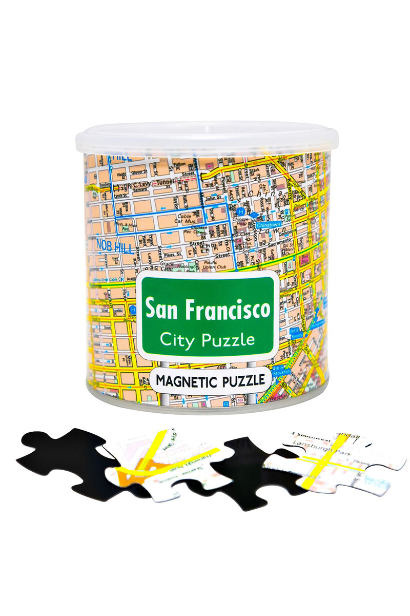 City Magnetic Puzzle San Francisco San Francisco Jigsaw Puzzle