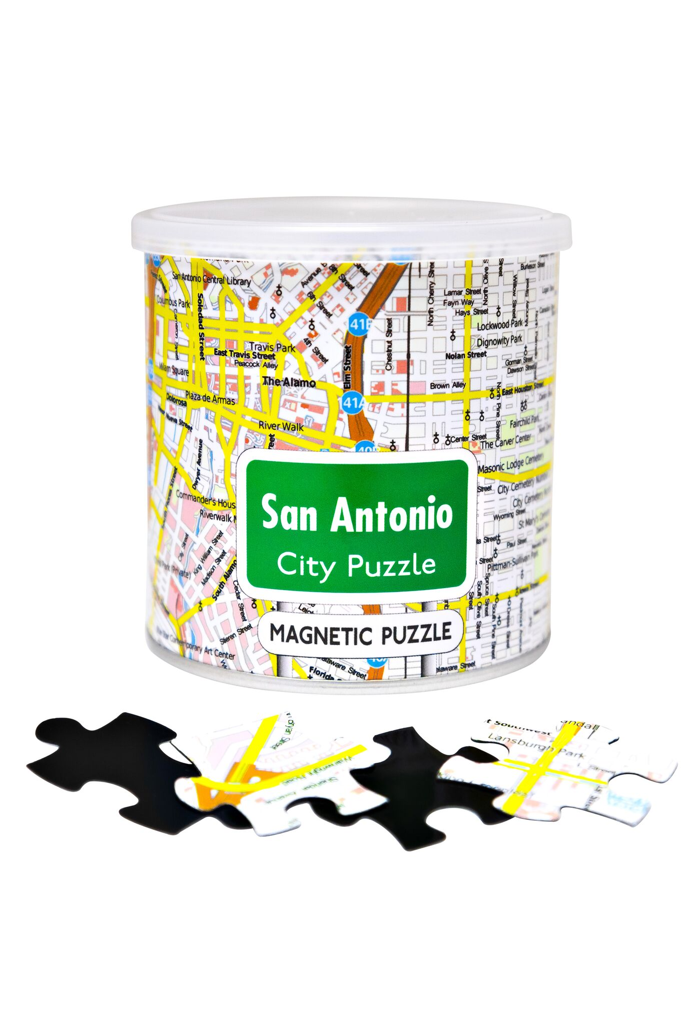 City Magnetic Puzzle San Antonio Cities Jigsaw Puzzle