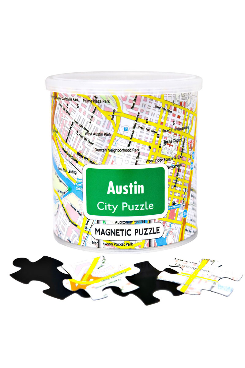 City Magnetic Puzzle Austin Cities Jigsaw Puzzle