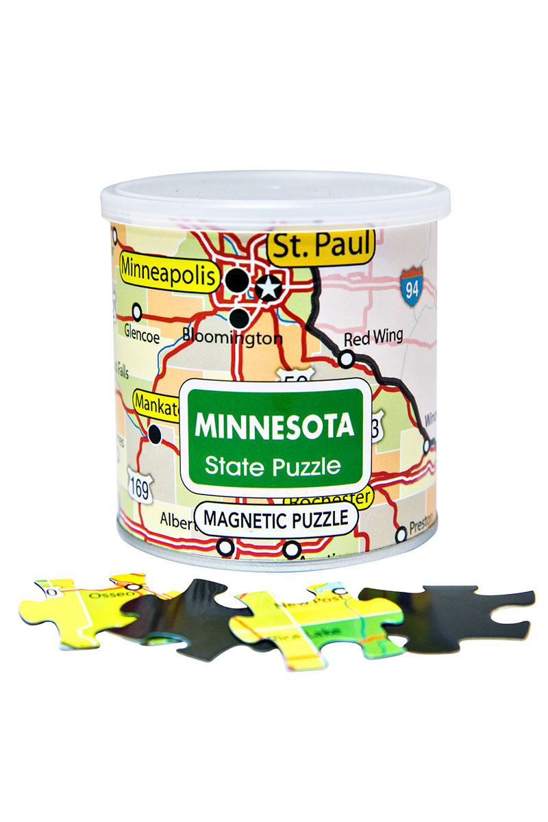 City Magnetic Puzzle Minnesota Cities Jigsaw Puzzle