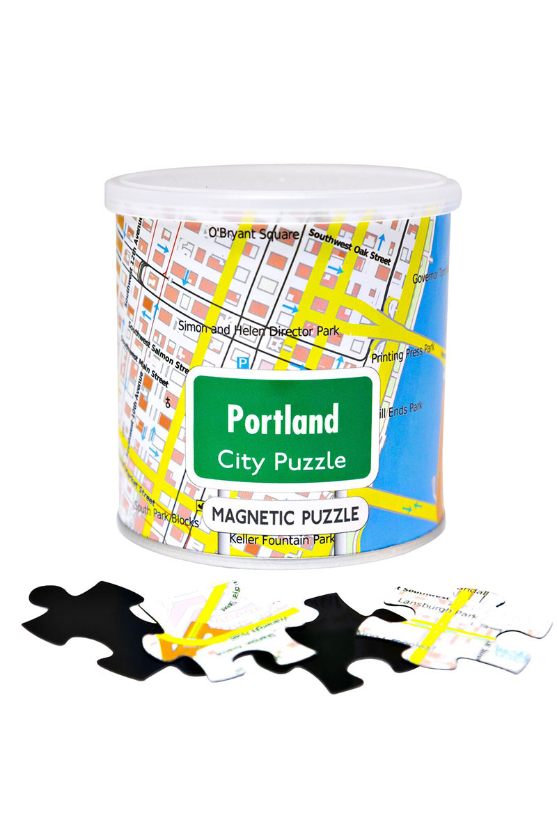 City Magnetic Puzzle Portland Cities Jigsaw Puzzle