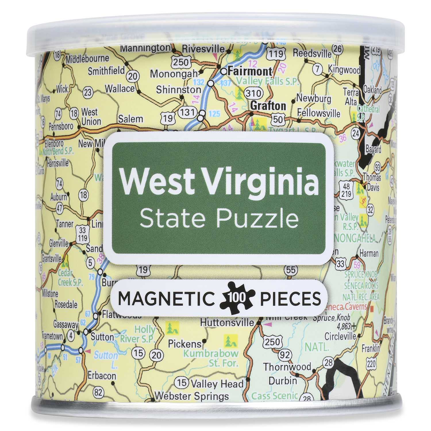City Magnetic Puzzle West Virginia Cities Jigsaw Puzzle