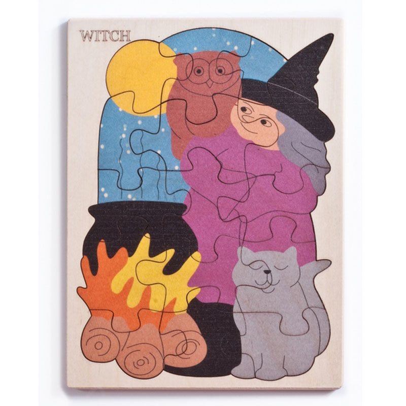 George Luck-Witch Halloween Wooden
