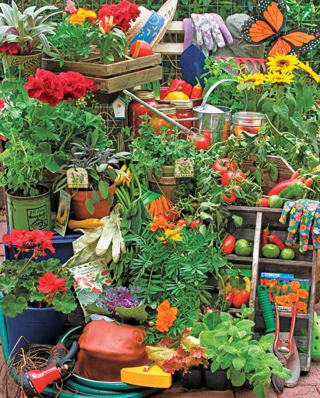 Garden Delights Garden Jigsaw Puzzle