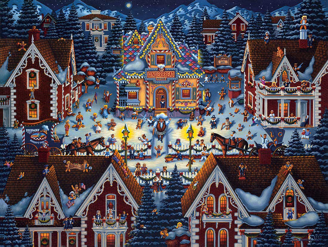 Gingerbread House Christmas Jigsaw Puzzle