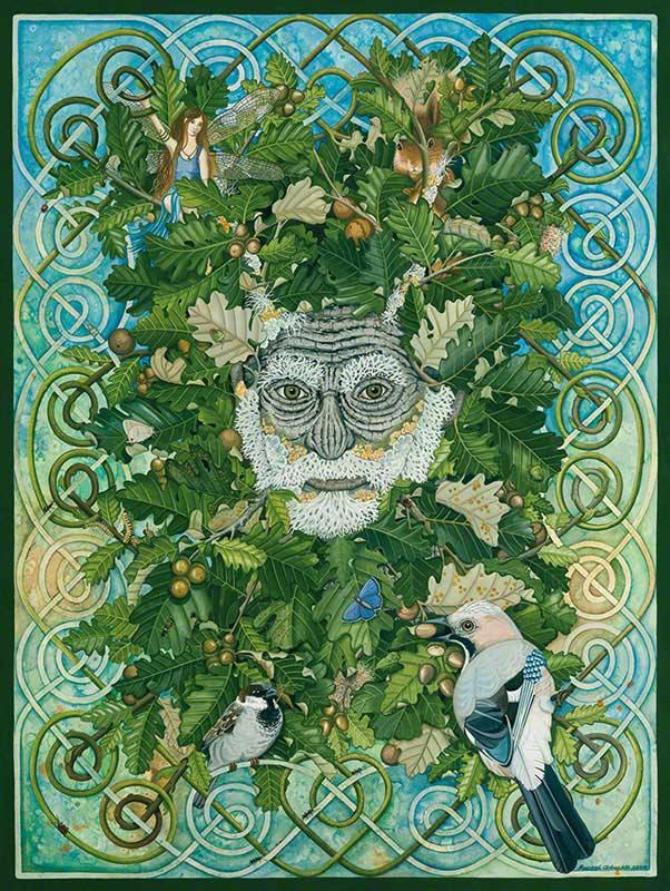 Green Man Fairies Jigsaw Puzzle