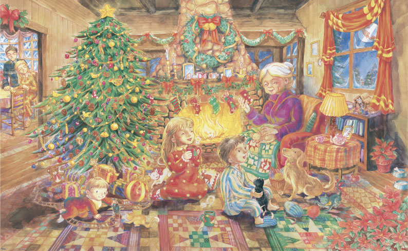 Aya - Living Room Christmas Jigsaw Puzzle