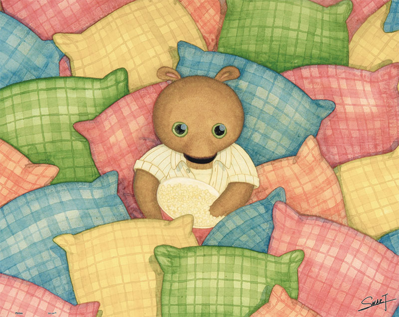 SMART - Cool Bear with Pillows Bears Jigsaw Puzzle