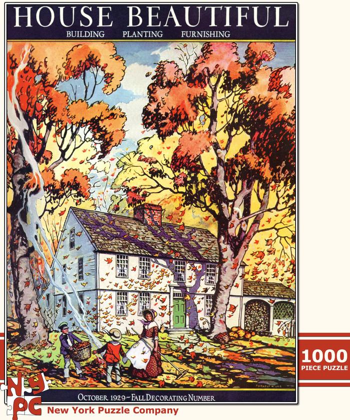 House Beautiful - Autumn Leaves Fall Jigsaw Puzzle