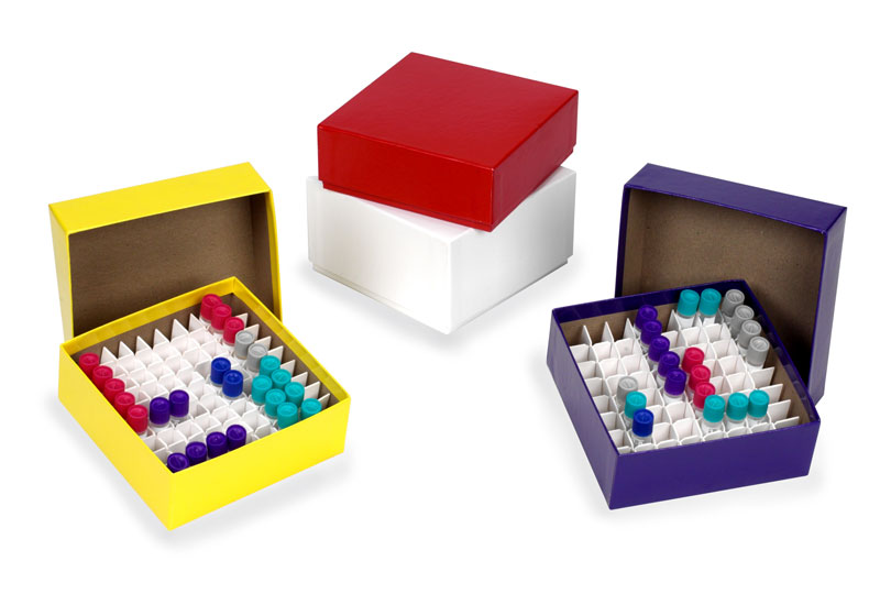 Cardboard Cryogenic Vial Boxes and Lids
