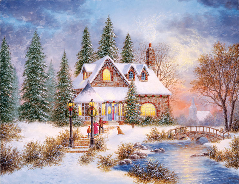 Holiday Homecoming Christmas Jigsaw Puzzle