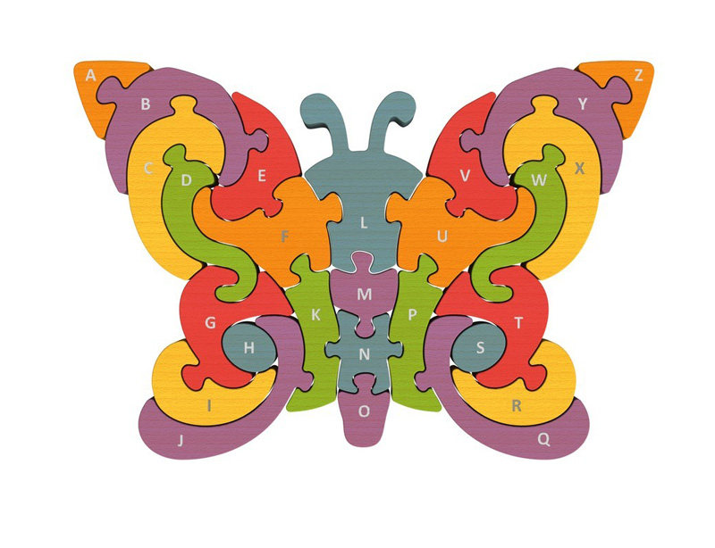 Butterfly A-Z Puzzle Butterflies and Insects Jigsaw Puzzle