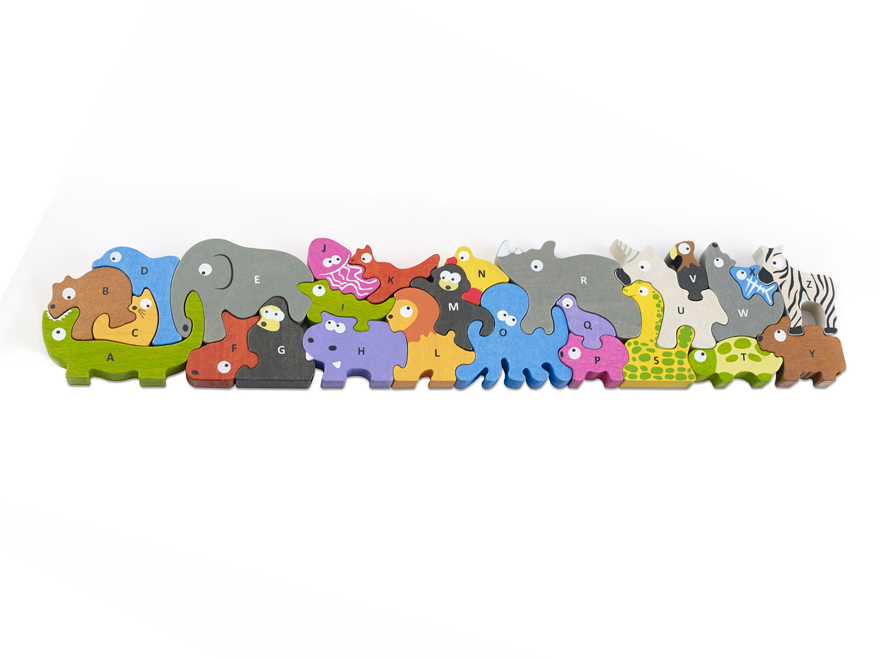 Jumbo Animal Parade A-Z Puzzle Animals Jigsaw Puzzle