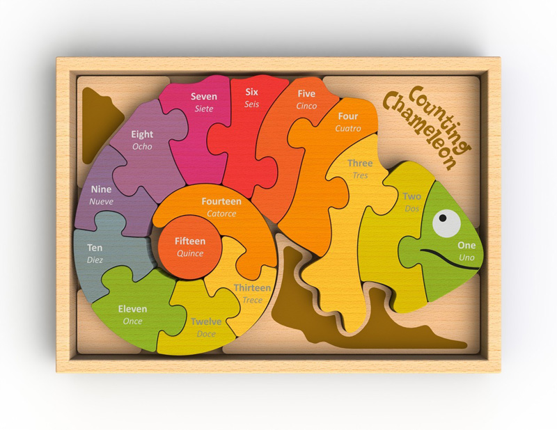 Counting Chameleon Puzzle Reptiles / Amphibians Jigsaw Puzzle