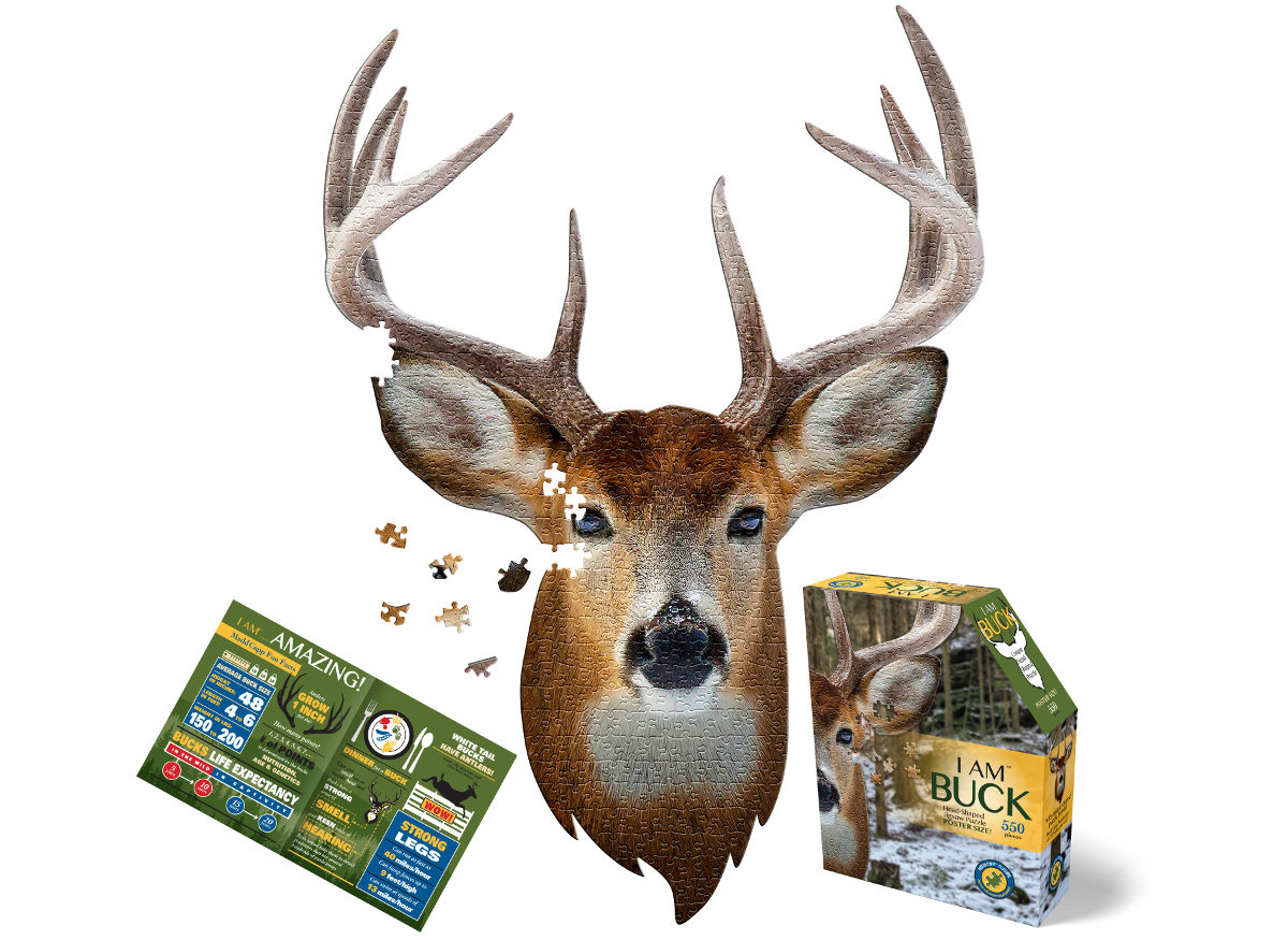 I Am Buck Wildlife Shaped Puzzle