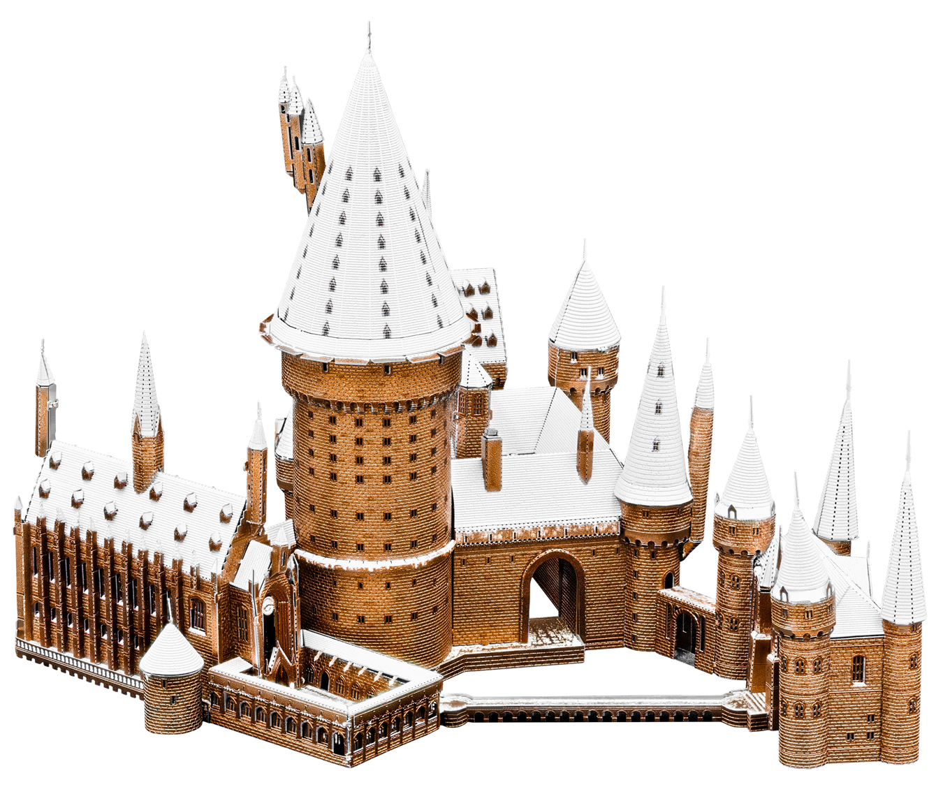 Hogwarts in Snow - Harry Potter Movies / Books / TV Metal Puzzles