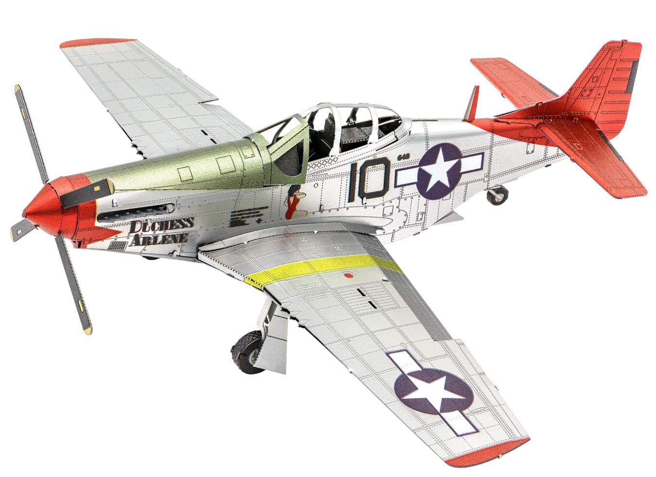 Tuskegee Airmen P51D 'Redtail' Planes Metal Puzzles