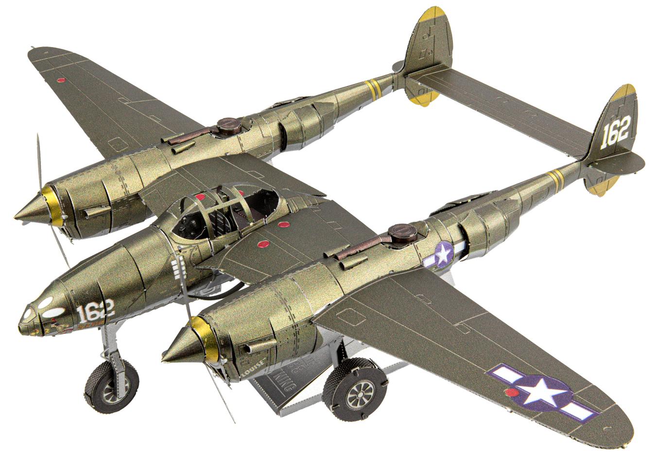 P-38 Lightning Planes Metal Puzzles