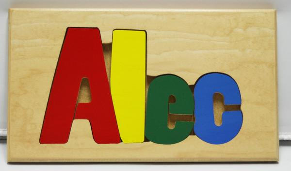 Alec Wooden Name Puzzle