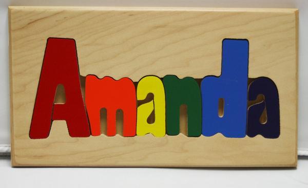Amanda Wooden Name Puzzle