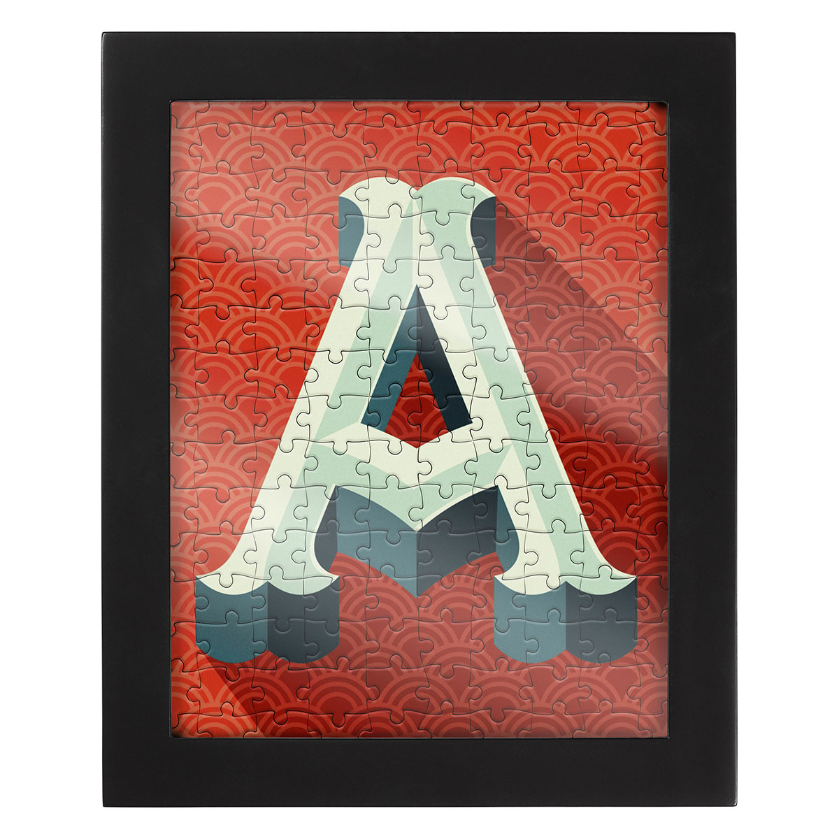 Jigsaw With A Frame Letter A Jigsaw Puzzle
