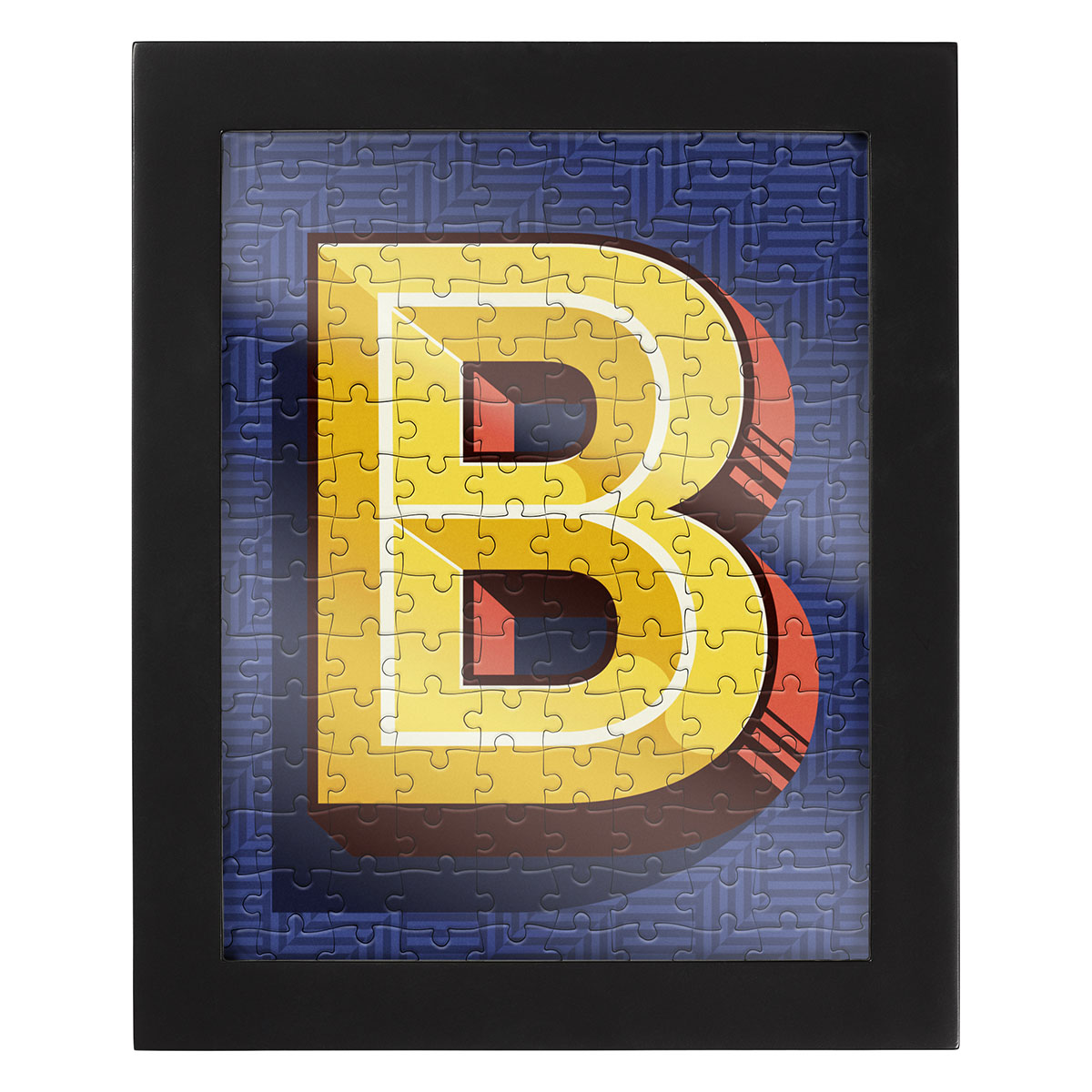 Jigsaw with a Frame - Letter B Jigsaw Puzzle | PuzzleWarehouse.com
