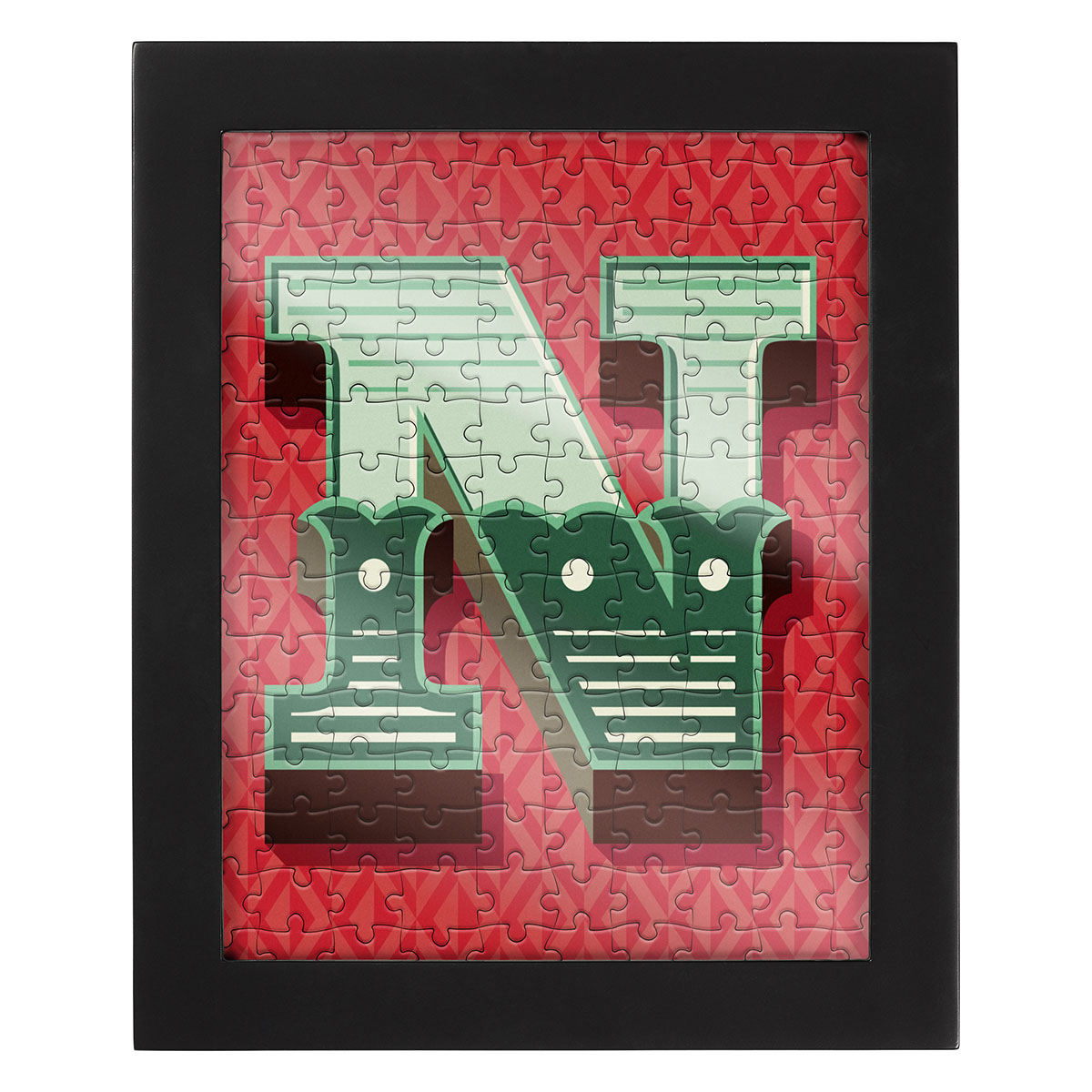 Jigsaw with a Frame 150 pcs - Letter N Alphabet/Numbers Jigsaw Puzzle