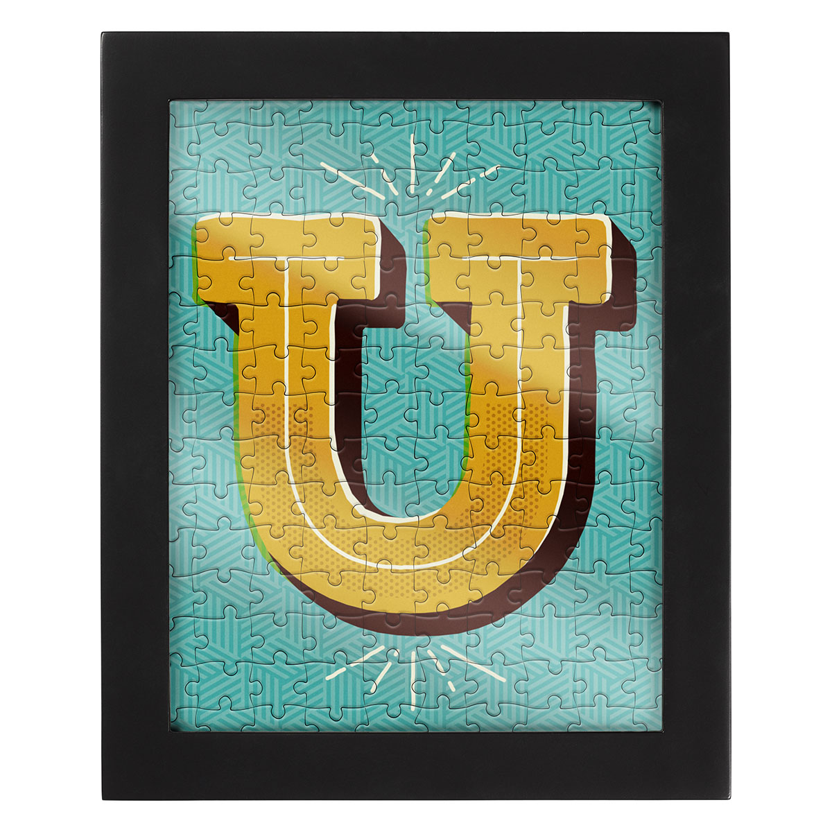 Jigsaw with a Frame - Letter U Alphabet/Numbers Jigsaw Puzzle