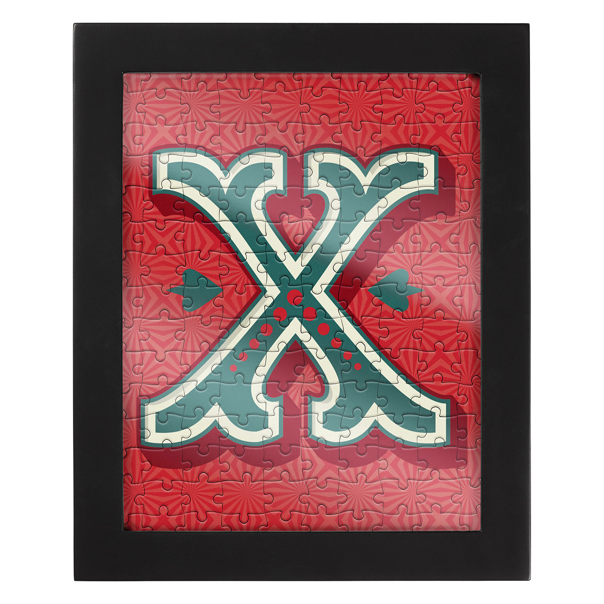 Jigsaw with a Frame - Letter X Alphabet/Numbers Jigsaw Puzzle