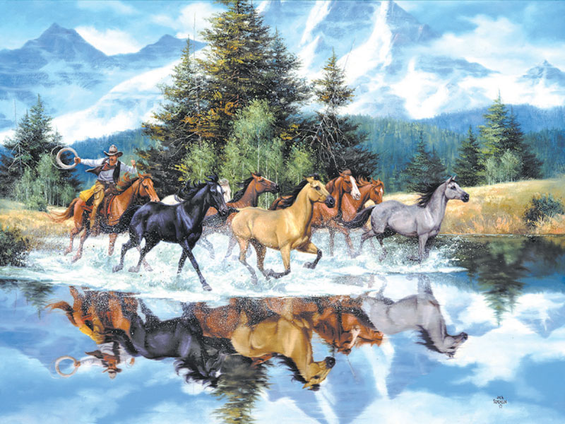 Last of the Wild Ones Horses Jigsaw Puzzle
