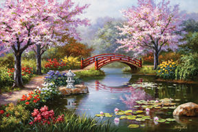 Japanese Garden in Bloom Jigsaw Puzzle PuzzleWarehousecom