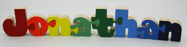 Jonathan BB Wooden Name Puzzle