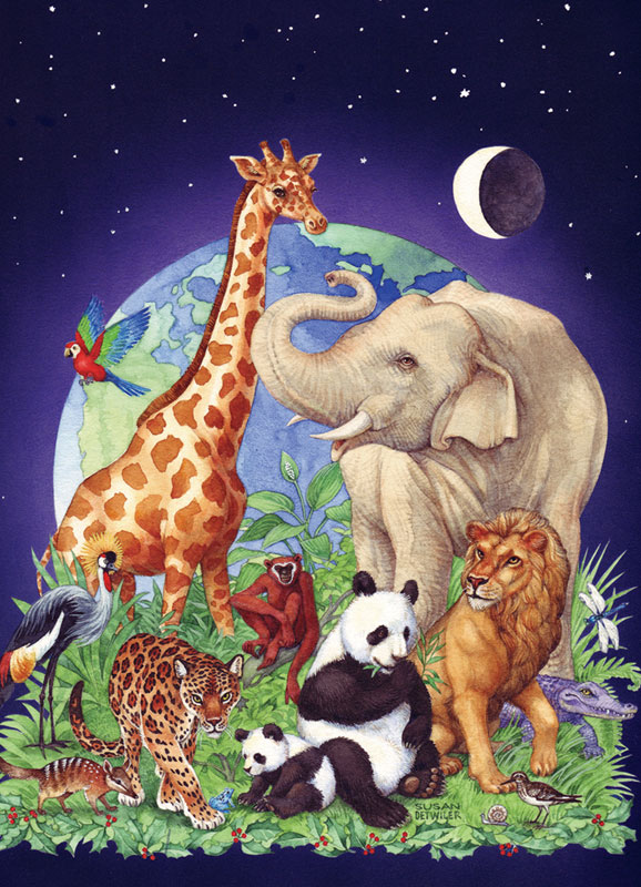 Jungle Party Jungle Animals Jigsaw Puzzle