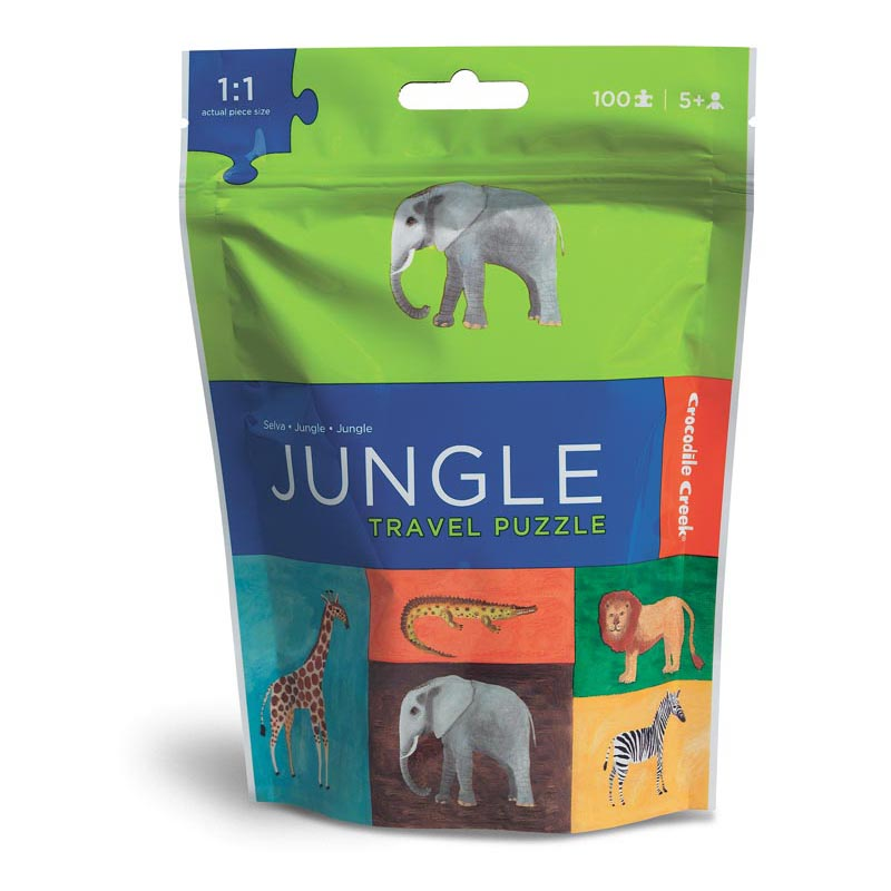 Travel Pouch Jungle Jungle Animals Jigsaw Puzzle