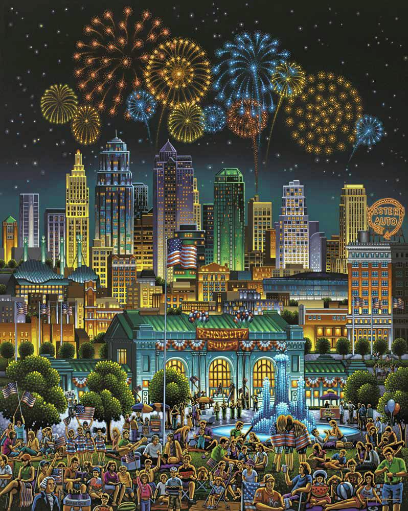 Kansas City Cities Jigsaw Puzzle