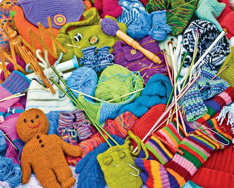 Knit Knacks Everyday Objects Jigsaw Puzzle