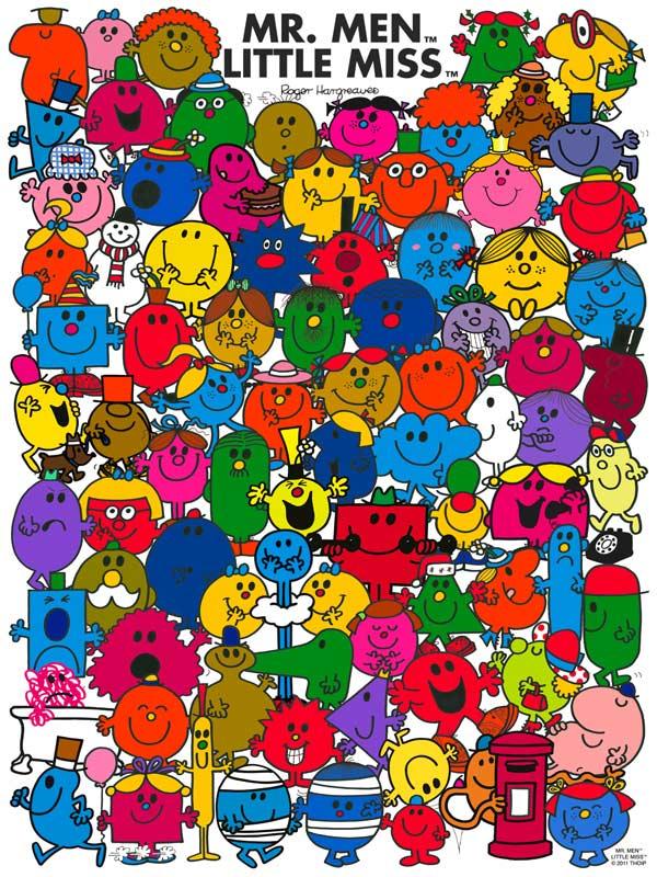 Little Miss - Mr. Men Little Miss Cartoons Jigsaw Puzzle