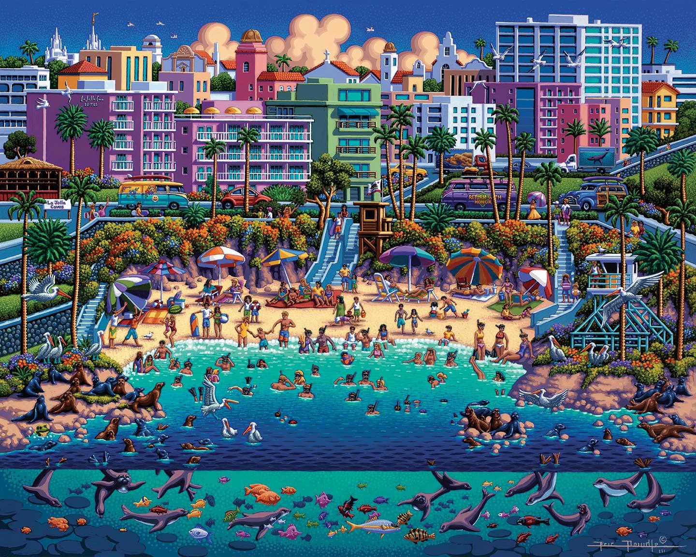 La Jolla Cove Beach Jigsaw Puzzle