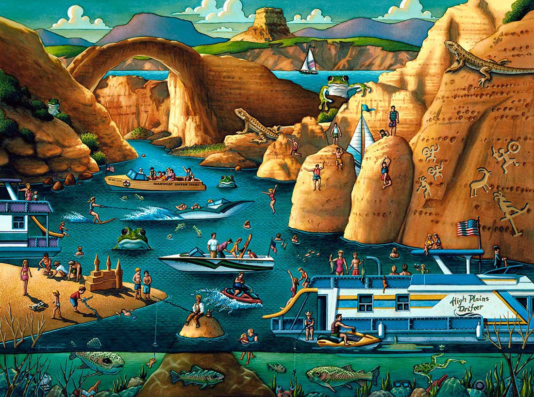Lake Powell Landmarks / Monuments Jigsaw Puzzle