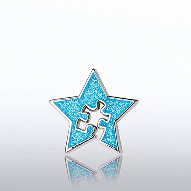 Lapel Pin - Blue Star with Essential Piece Novelty