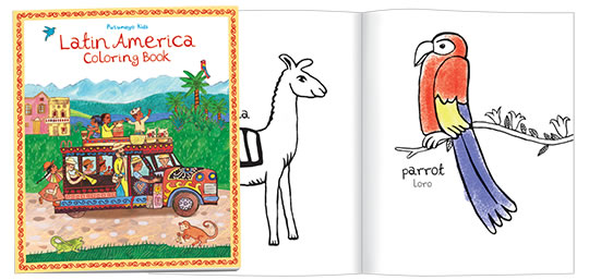 Latin America Coloring Book History Activity Book and Stickers