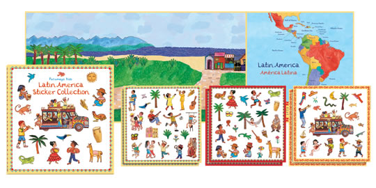 Latin America Sticker Collection Travel Activity Books and Stickers