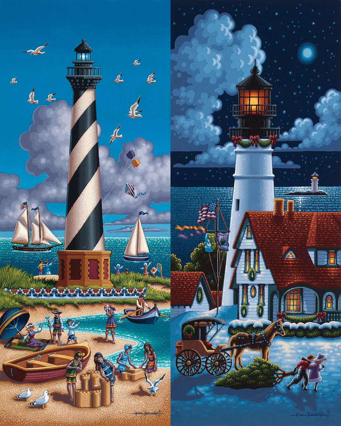 Lighthouses North Beach Jigsaw Puzzle