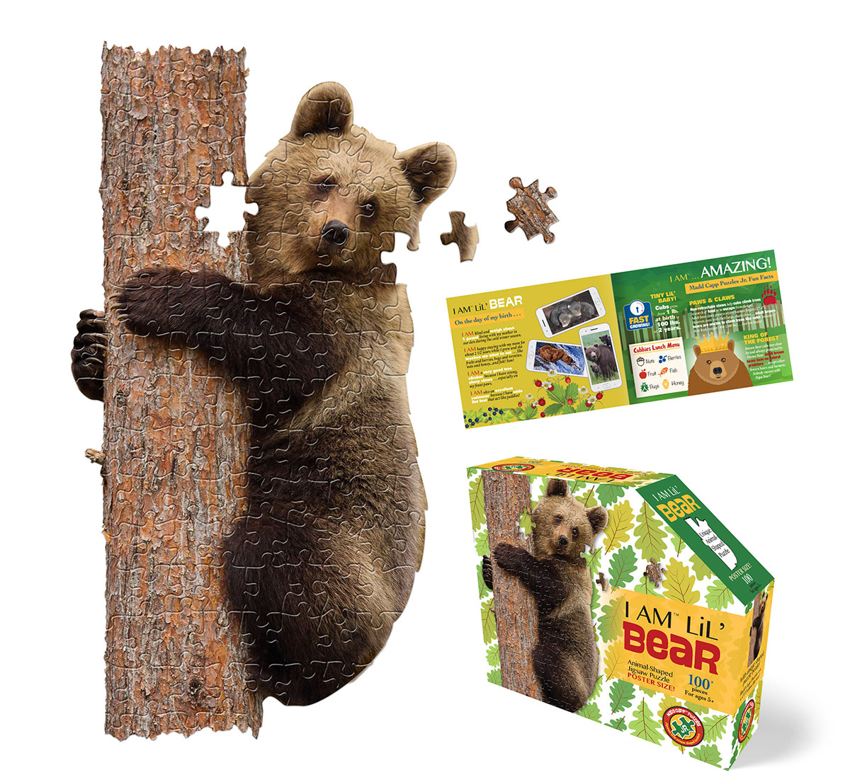 I Am Lil' Bear Wildlife Shaped Puzzle